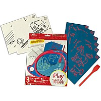 Boogie Board Play N' Trace Paperless Doodle Pad Activity Pack - Farm Friends