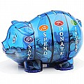 Money Savvy Pig - Blue, Green, Platinum