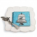 Mud Pie Bird Napkin, Spreader and Plate Set