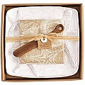 Mud Pie Starfish Cheese Plate Set, White