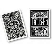 Cards Tally Ho Fan Back (Black)