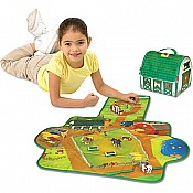 ZipBin Softie Country Stable Play set