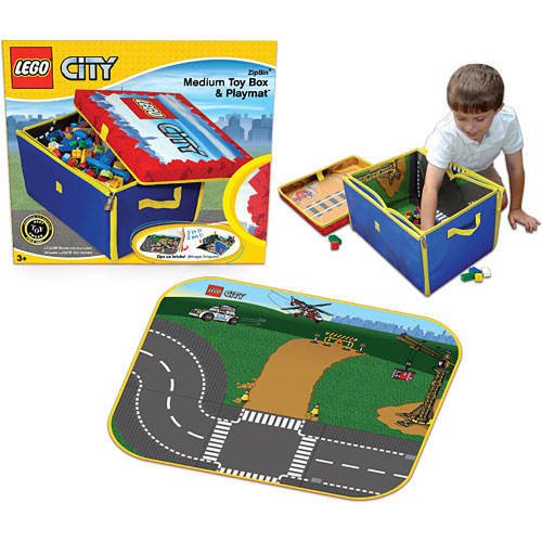 Neat Oh Lego City Zipbin Medium Toy Box Playmat Optimus Toys
