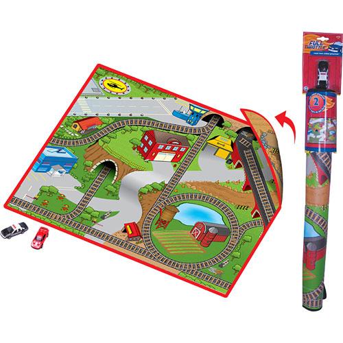 Neat-Oh! Full Throttle Roadville 2-Sided Playmat W/ 1 Car