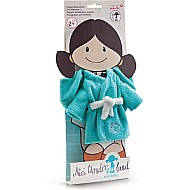 Bathing robe for 30cm doll terry-cloth