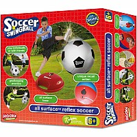 Mookie Swing ball Soccer - Silver/Red