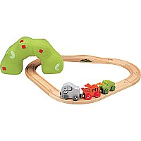 Baby's First Jungle Wooden Train Set