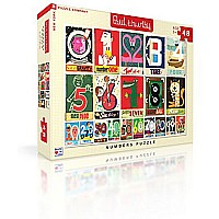 New York Puzzle Company - Paul Thurlby Numbers - 48 Piece Jigsaw Puzzle