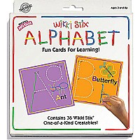 Wikki Stix Alphabet Fun Cards for Learning