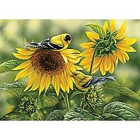 1000 pc. Puzzle - Sunflowers and Goldfinches