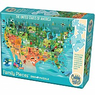 350 pc Family Puzzle United States Of America