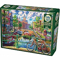 1000 pc Amsterdam Canal