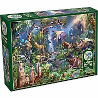 1000 pc Into The Jungle