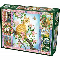Blossoms And Kittens Quilt (1000 pc) Cobble Hill