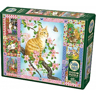 Blossoms And Kittens Quilt