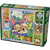 1000 pc Puppies And Posies Quilt