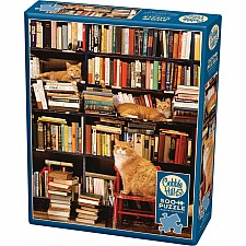 Gotham Bookstore Cats - 500 Piece