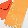 Thankgiving Card by Papyrus Cards Glittered Autumn Leaf
