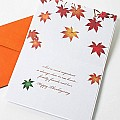 Thankgiving Card by Papyrus Cards Fall Foilage Miles Seperate Us