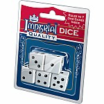 Imperial White Dice 5pk