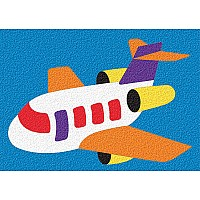 Crepe Rubber Puzzle - Airplane 14pc