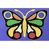 Butterfly Crepe Rubber Puzzle