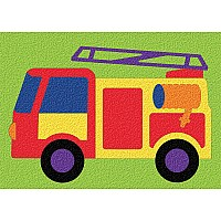 Fire Truck - Crepe Rubber Puzzle