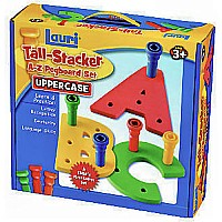 Tall-Stacker A-Z Pegboard Set - Uppercase