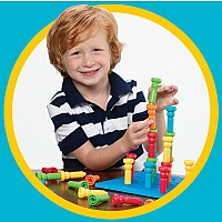 Tall-Stacker Peg & Pegboard Set