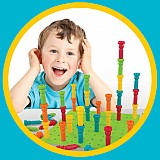 Deluxe Tall-Stacker Pegs & Pegboard Set