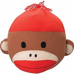 "Sock Monkey 10.5"" Plush Head"