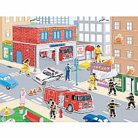 Firefighters Magnetic Playset