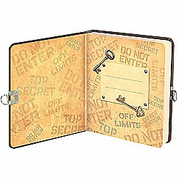 Peaceable Kingdom Keep Out Lock and Key Diary