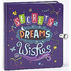 Secrets, Dreams, and Wishes Glow in the Dark Lock and Key Diary