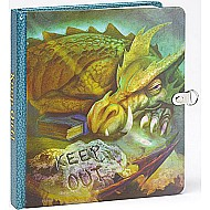 Keep Out! Dragon Picture-Changing Cover Lock and Key Diary