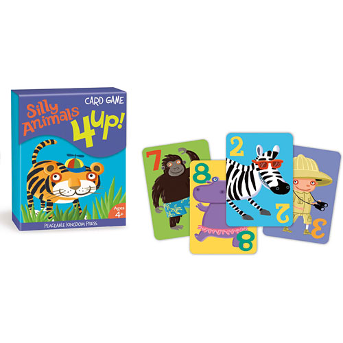4 up silly animals card game peaceable kingdom cg4