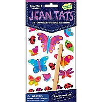 Jean Tats (Temporary Tattoos for Fabric) - Butterflies & Ladybugs