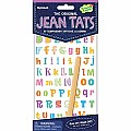 Peaceable Kingdom Jean Tats Alphabet Temporary Tattoos for Fabric