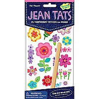 Jean Tats (Temporary Tattoos for Fabric) - Fun Flowers