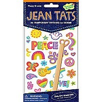 Jean Tats (Temporary Tattoos for Fabric) -  Peace & Love