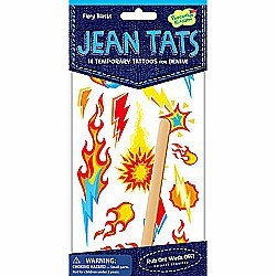 Peaceable Kingdom Jean Tats Fiery Blasts Temporary Tattoos for Fabric
