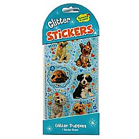 Sparkly Glitter Stickers - Glitter Sparkly Puppies
