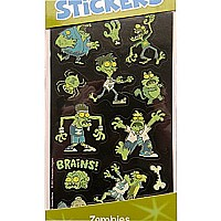 Glow In the Dark Stickers - Zombies - Art, Craft & Room Decoration