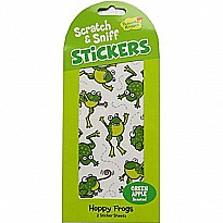 Scratch and Sniff Stickers - Hoppy Frogs - Green Apple Scent