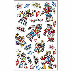Peaceable Kingdom Super Shiny! Foil Robots Sticker Pack