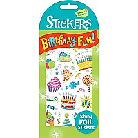 Peaceable Kingdom Shiny Foil Birthday Fun! Sticker Pack