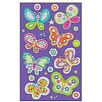 Peaceable Kingdom Super Shiny! Neon Butterfly Sticker Pack