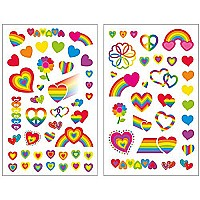 Peaceable Kingdom Rainbow Hearts Sticker Pack