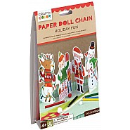 Holiday Fun Paper Doll Chain Craft & Color