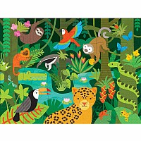 24 pc Floor Puzzle Wild Rainforest
